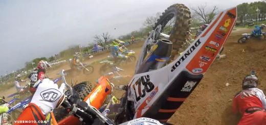 【2ストロークビデオ】マルチクラッシュからの激烈追い上げ KTM 150SX